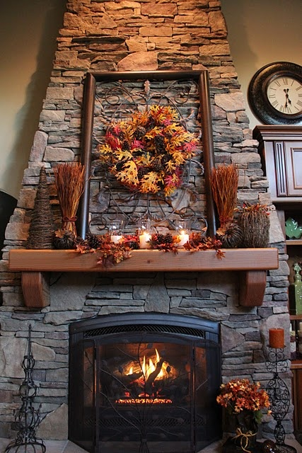 thanksgiving-mantel